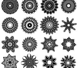 Vector Tribal Flower Tattoo Designs