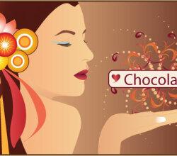Chocolate Woman Vector