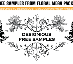 Floral  Sample Vector Pack