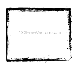 Grunge Brush Stroke Frame Vector Illustrator