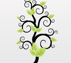 Vector Floral Green Leaves