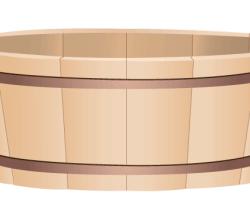 Vector Wooden Bucket