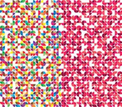 Vector Quarter Circles Pattern