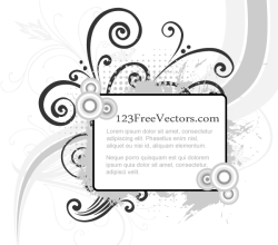 Vector Flowers Frame with Halftone