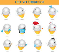 Free Robots Vector