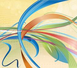 Ribbon Party Vector Illustration