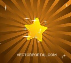 Retro Star Background Design Vector Graphics