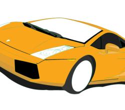Lamborghini Gallardo Vector Art