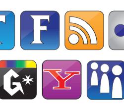 Social Icons Vector Set