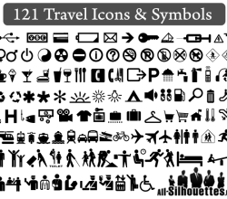 121 Free Travel Icons and Symbols Vector