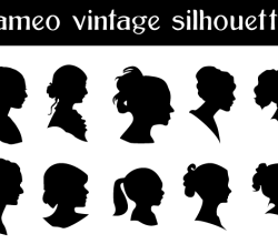 Free Cameo Silhouettes Vector