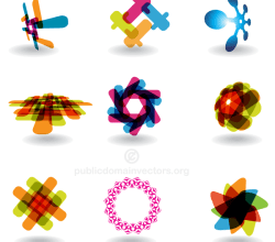 Vector Colorful Abstract Logotype Design Shapes