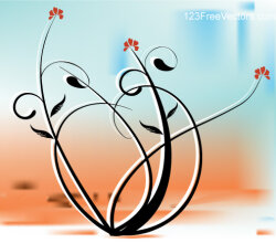 Vector Background with Floral Design