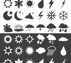 30 Weather Forecast Icons Vector