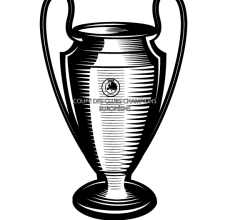 Champions League Cup Vector