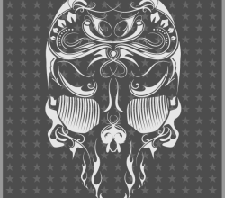 Skull Flourish Mexican Touch Free Vector
