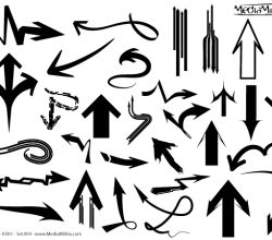 Free Arrows Vector Set 4