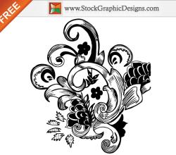 Free Hand Drawn Floral Illustration