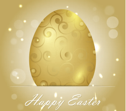 Golden Easter Egg Background Vector