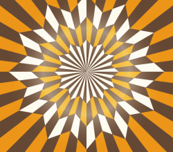 Star Optical Illusion Abstract Vector Art