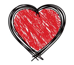Scribble Heart Vector Art