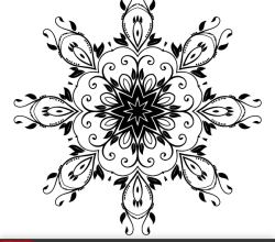 Vector Flower Decoration Design Element