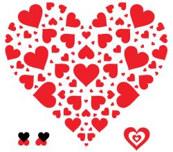 Vector Heart in Heart Shape Illustration
