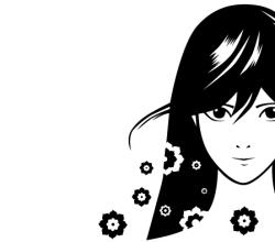 Manga Girl Vector Free