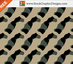 Seamless Camouflage Free Vector Pattern – 3 Colours
