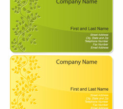 Free Floral Design Business Card Template Vector