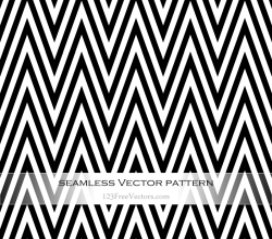 Black and White Chevron Seamless Pattern Vector