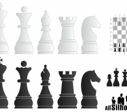 Chess Objects Vector