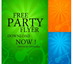 Party Flyer Background Vector Free
