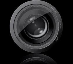 Vector Graphic Camera Lens