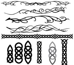 Celtic and Elvish Decoration Flourish Vector Art