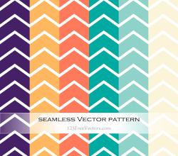 Colorful Chevron Pattern Vector Illustration