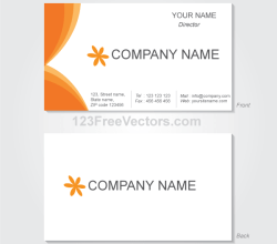 Vector Graphics Business Card Template