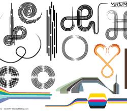 Line Art Design Elements Vector Set-9
