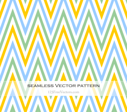Green Blue and Yellow Seamless Chevron Pattern