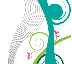 Vector Line and Swirl Background Design