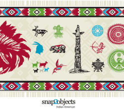 North American Native Elements Free Vector