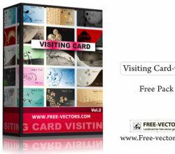 Visiting Card Free Illustrator Vector Pack