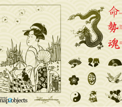 Traditional Japanese Elements Free Vector