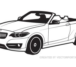 BMW Car Vector Image