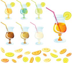 Free Vector Cocktail with Lemon Slice