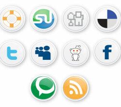 Social Button For Web Designer