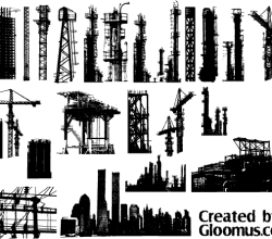 Free Grunge Cityscape Elements Vector