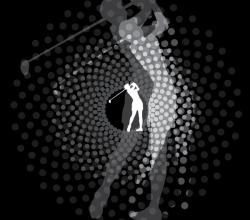 Golfer Swinging Silhouette Vector