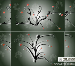 Free Flower Ornaments Vector