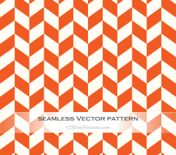 Orange Chevron Pattern Vector